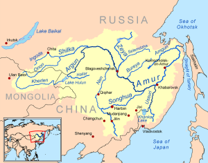 The Songhua is the largest tributary of the Amur River, flowing through the largest Manchurian city, Harbin.